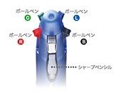 パイロットPILOT[多機能油性ボールペン]ドクターグリップ4+1レッド(インキ色:4色、ボール径0.7mm・芯径:0.5mm)PBKHDF1SFN-R[PBKHDF1SFNR]
