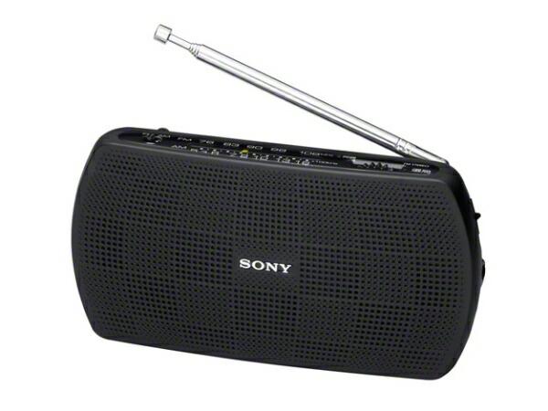 ソニーSONYSRF-19BC携帯ラジオブラック[AM/FM/ワイドFM対応][SRF19BC]