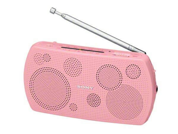 ソニーSONYSRF-19PC携帯ラジオピンク[AM/FM/ワイドFM対応][SRF19PC]