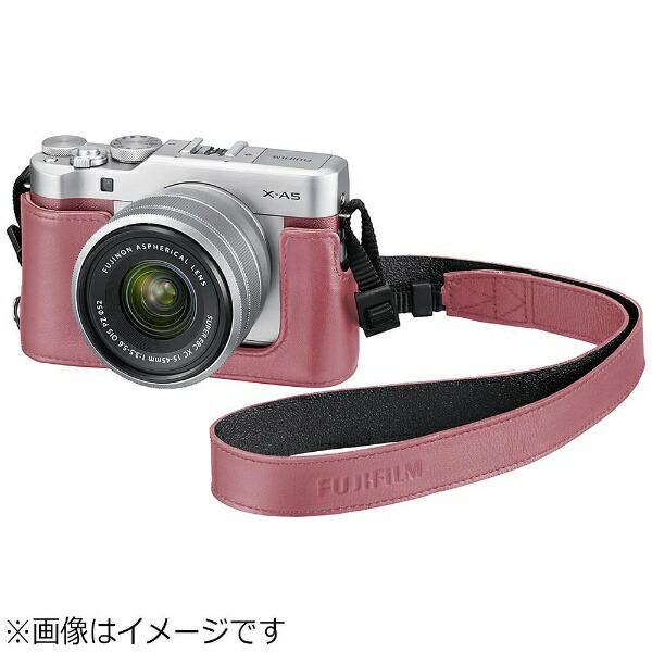 富士フイルムFUJIFILMボトムレザーケース(ピンク)BLC-XA5[FBLCXA5P]