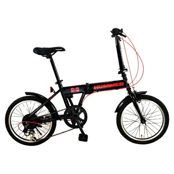 ハマーHUMMER18型折りたたみ自転車HUMMERFDB186IW-III(ブラック/6段変速)FDB186IW3【組立商品につき返品不可】【代金引換配送不可】