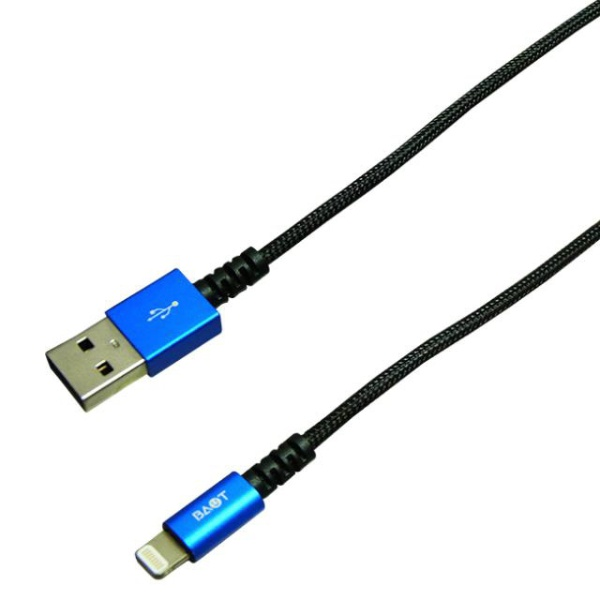 バウトBAUT[ライトニング]ケーブル充電・転送2.4A(1m)MFi認証BUSLAN100BLブルー[1.0m]
