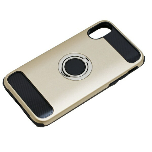 バウトBAUTiPhoneX用ジャケットリング付き耐衝撃BCJI1703GDゴールド