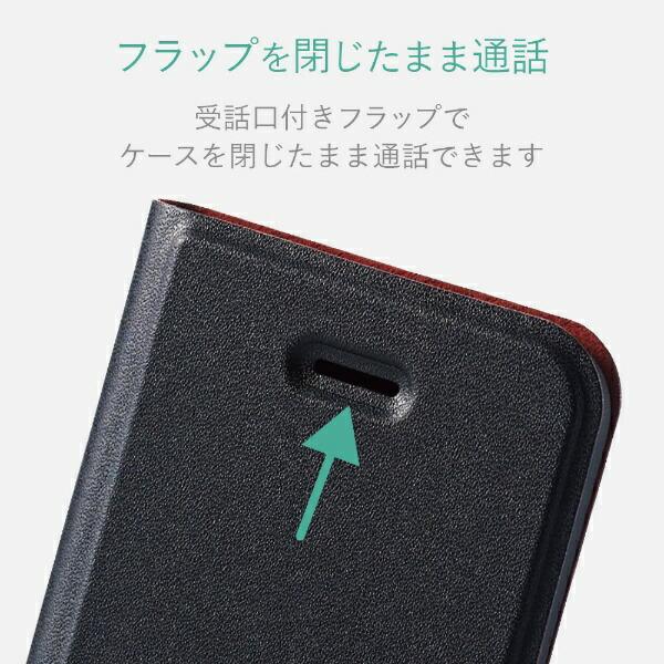 エレコムELECOMiPhoneSE(第1世代)4インチ/5s/5ソフトレザーカバー薄型磁石付手帳型ケース