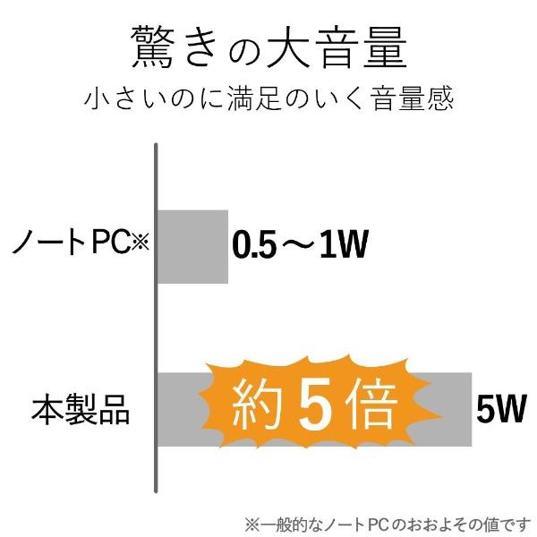 エレコムELECOMMS-P08USBBKコンパクトスピーカーブラック[USB電源/2.0ch]
