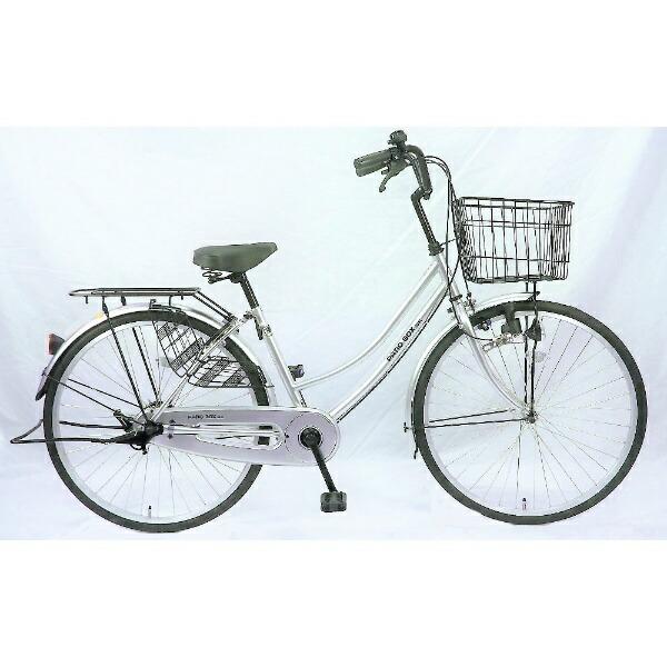 サイモト自転車SAIMOTO26型自転車パティオボックスSE(シルバー/シングルシフト)FW-B260BA-BC-BAA【組立商品につき返品不可】【b_pup】【代金引換配送不可】