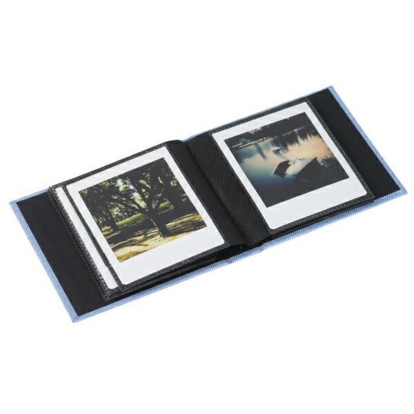 エツミETSUMIE-5501フォトアルバムエポカチェキスクエア対応20枚用ブルー