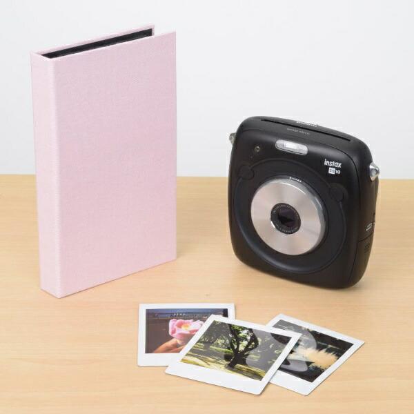 エツミETSUMIE-5508フォトアルバムエポカチェキスクエア対応40枚用ピンク