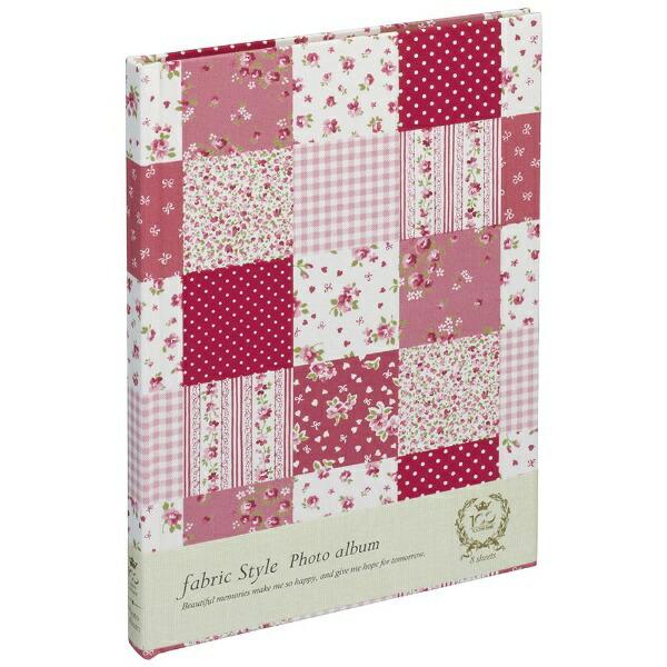 ナカバヤシNakabayashiファブリックスタイルブック式フリーアルバム100年台紙B5ラブリーフラワーチェック(ピンク)アHB5B175P
