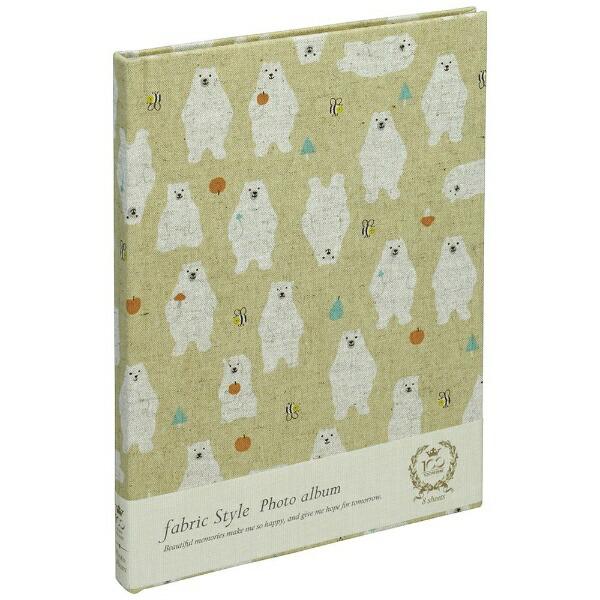 ナカバヤシNakabayashiファブリックスタイルブック式フリーアルバム100年台紙B5北欧クマ(ベージュ)アHB5B174V