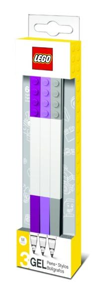 LEGOレゴ[ジェルインクボールペン]LEGOボールペン3パック37524パープルミックス