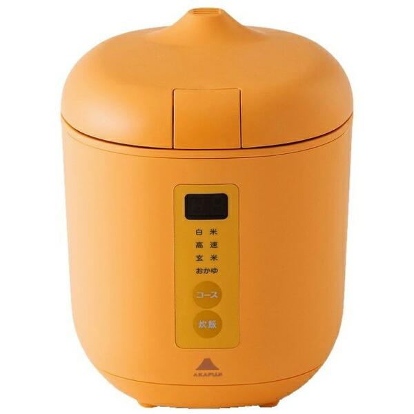 神明きっちんAK-PD01炊飯器poddi(ポッディー)オレンジ[1.5合/マイコン][AKPD01]