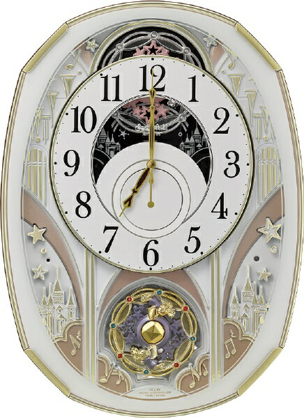 リズム時計RHYTHMからくり時計【スモールワールドノエルS】白4MN551RH03[電波自動受信機能有]