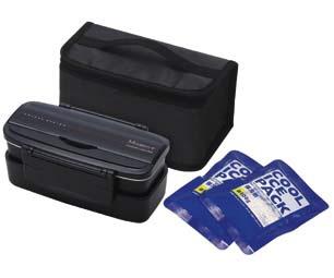 スケーターSkaterモダンプラス保冷材バッグ付きタイトランチBOX2段900mlBKKCPOW5Tブラック[KCPOW5T]
