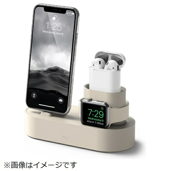 ELAGOエラゴiPhone/AirPods/AppleWatch用充電スタンドChargingHubforiPhone/AirPods/AppleWatchelagoクラッシックホワイトEL_IAASTSC3S_CW