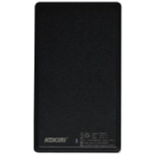 ANSモバイルバッテリーブラックKPB-G5000GPS[5000mAh/1ポート/充電タイプ]