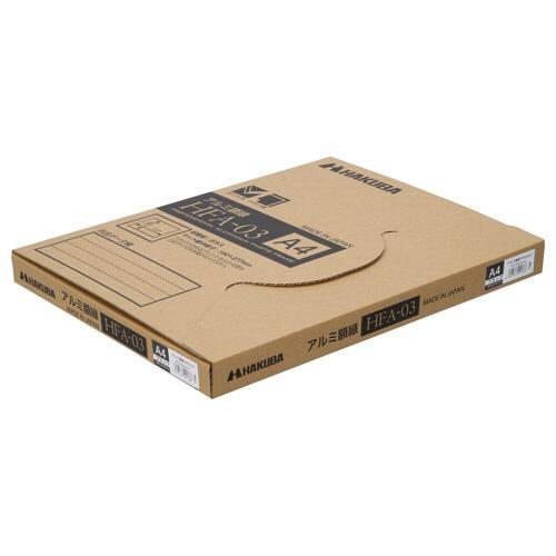ハクバHAKUBAアルミ額HFA-03ブラック(ホワイトマット)ワイド4切HFA-03BWM-W4BK(白マット)