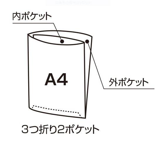 セキセイSEKISEI[ファイル]フィンダッシュポケットクリヤホルダー(A4、3つ折り2ポケット)FINN-7781-15ネイビー