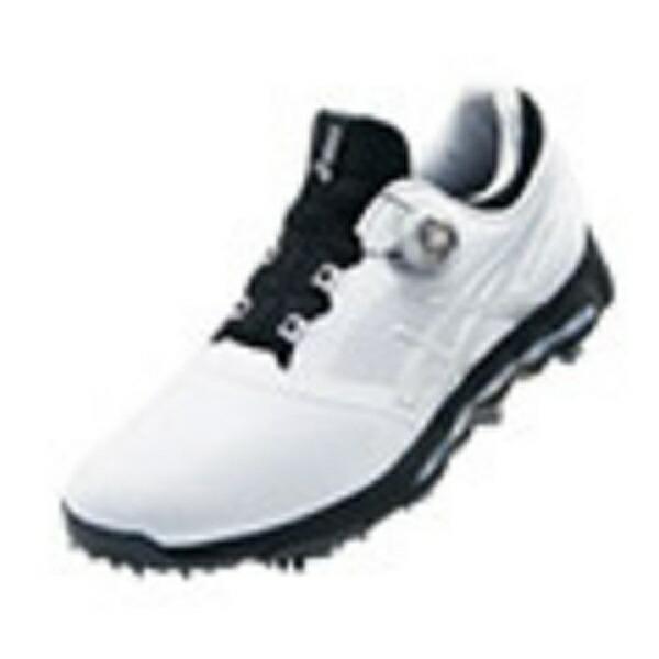 アシックスasics27.5cmメンズゴルフシューズGEL-ACEPROXBoa(ホワイト×シルバー)TGN922