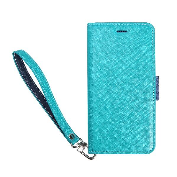 サンクチュアリSanctuaryCoralloNU(エヌユー)合皮手帳型ケースforiPhone8Plus/7Plus/6sPlus/6Plus/ブルーネイビー