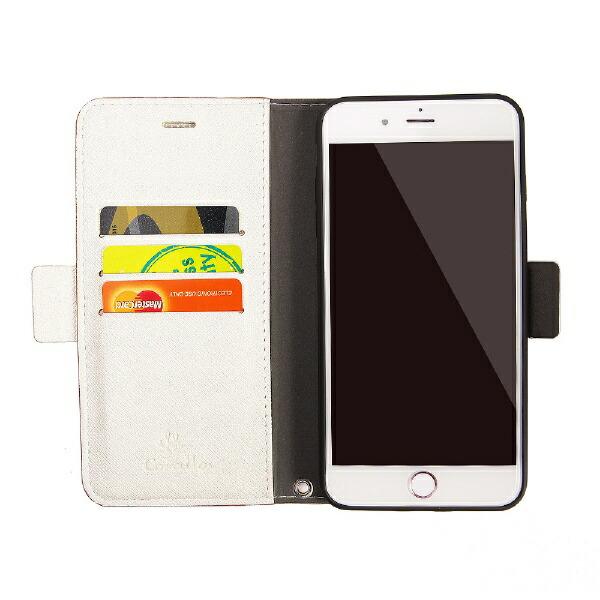 サンクチュアリSanctuaryCoralloNU(エヌユー)合皮手帳型ケースforiPhone8Plus/7Plus/6sPlus/6Plus/シャンパンローズホワイト
