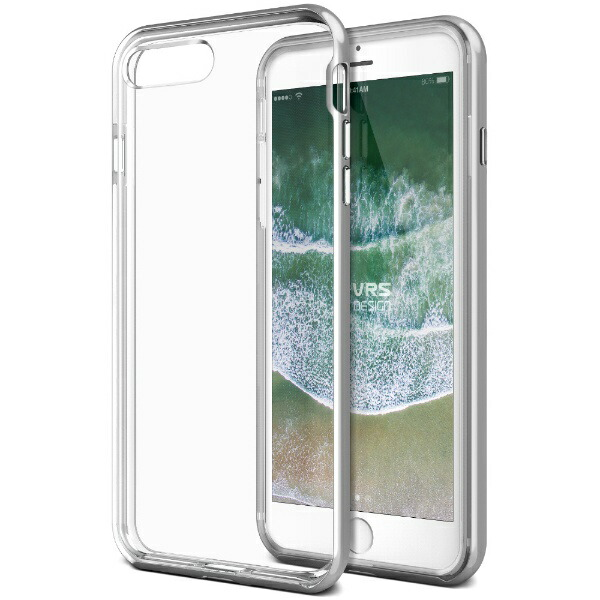 サンクチュアリSanctuaryVRSDESIGNクリスタルバンパーforiPhone8Plus/7Plus/シルバー