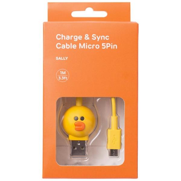 ROAロア[microUSB]USBケーブル充電・転送(1m)KCL-AMC002サリー[1.0m]