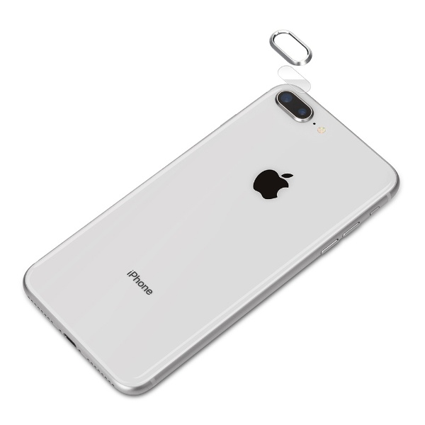 PGAiPhone8Plus/7Plus用カメラレンズプロテクターセットPG-17LGA02SVシルバー