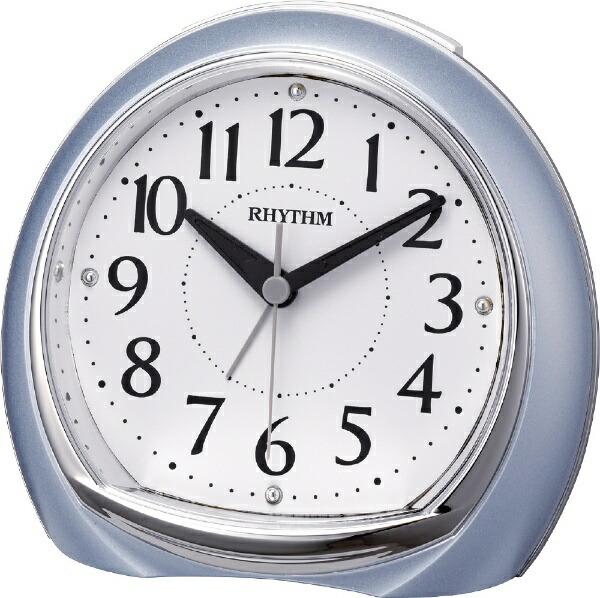 リズム時計RHYTHM目覚まし時計リフレR665青メタリック(白)8RE665SR04[アナログ]