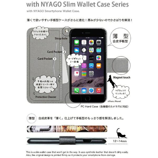 CaseMarketNYAGOiPod-touch6スリム手帳型ケースNYAGOノートフレンチフラワーダイアリーキャットシルエットダイヤ柄&おすましだにゃん。iPod-touch6-BNG2S2458-78クリーム[IPODTOUCH6BNG2S24587]【メーカー直送・代金引換不可・時間指定・返品不可】