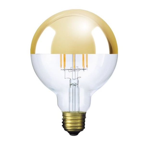 ビートソニックBeatSonicLDF35LED電球Siphon(サイフォン)クリア・ゴールドミラー[E26/電球色/1個/40W相当/ボール電球形]