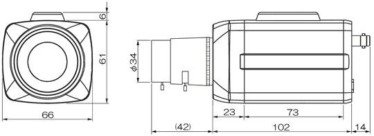 マザーツールMotherToolフルハイビジョン高画質BOX型AHDカメラMTC-B124AHD