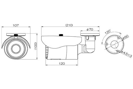 マザーツールMotherTool電動ズーム対応フルハイビジョン高画質防水型AHDカメラMTW-E6875AHD