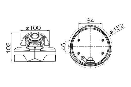 マザーツールMotherTool電動ズーム対応フルハイビジョン高画質防水型AHDドームカメラMTD-E6882AHD