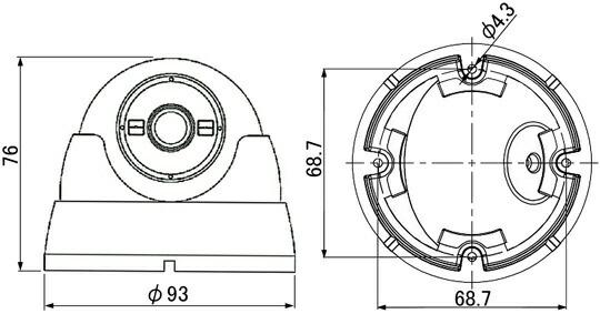 マザーツールMotherToolフルハイビジョン高画質防水ドーム型AHDカメラMTD-S01AHD