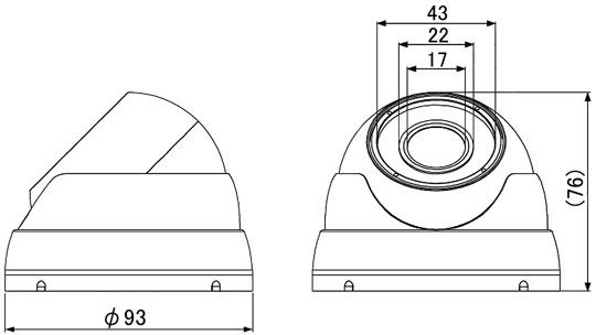 マザーツールMotherToolフルハイビジョン高画質防水ドーム型AHDカメラMTD-W308AHD