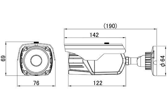 マザーツールMotherTool不可視LED搭載フルハイビジョン防水型AHDカメラMTW-E727AHD