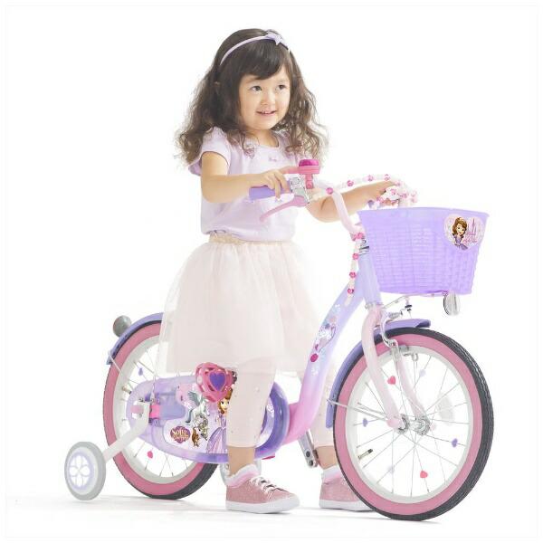 アイデスides16型幼児用自転車ソフィア&スカイ16(パープル×ピンク/シングルシフト)【組立商品につき返品不可】【代金引換配送不可】
