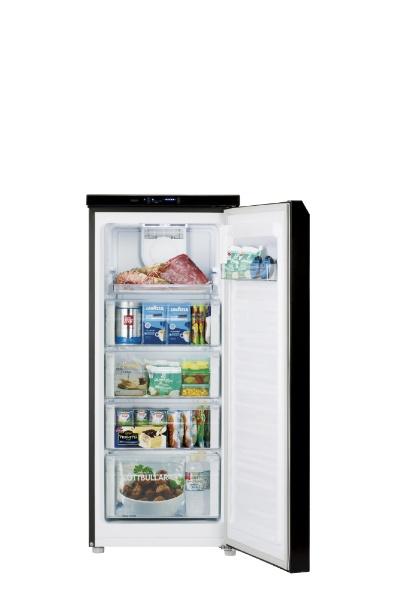 AQUAアクアAQF-GS13G冷凍庫クリスタルブラック[1ドア/右開きタイプ/134L][AQFGS13G_K]
