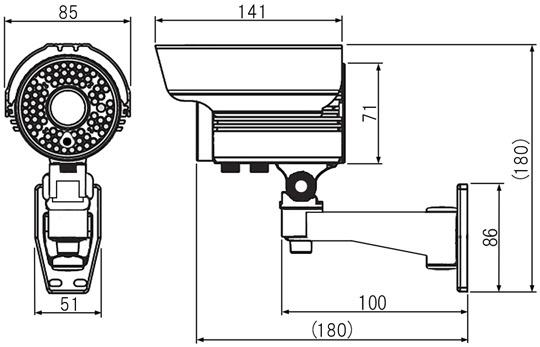 マザーツールMotherTool2.0メガピクセル高画質防水型AHDカメラMTW-3585AHD