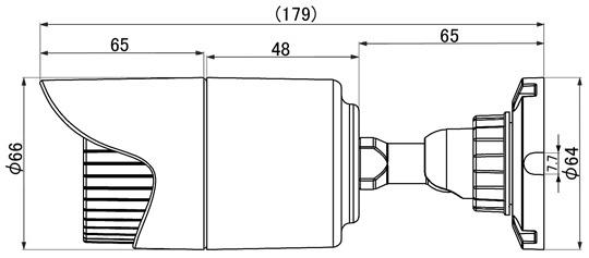 マザーツールMotherTool2.0メガピクセル高画質防水型AHDカメラMTW-3514AHD