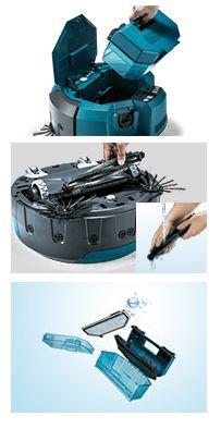 マキタMakitaRC200DZロボット掃除機RC200Dブルー※バッテリ、充電器別売モデル[RC200DZSP掃除機]