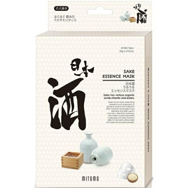 日本マスクパック美友うるうるエッセンスマスク日本酒(6枚入)[シートマスク]