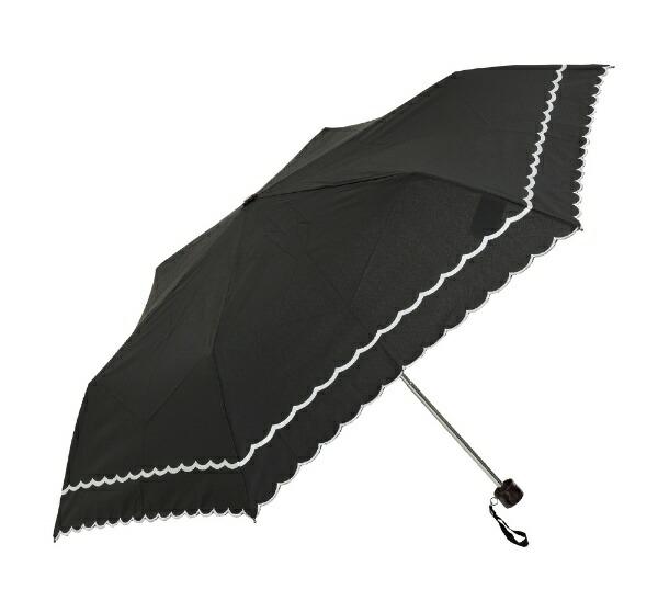 ウォーターフロントWaterfront折りたたみ傘スカラップ刺繍SKRP-3F50-UH[晴雨兼用傘/レディース/50cm/色・柄指定不可]