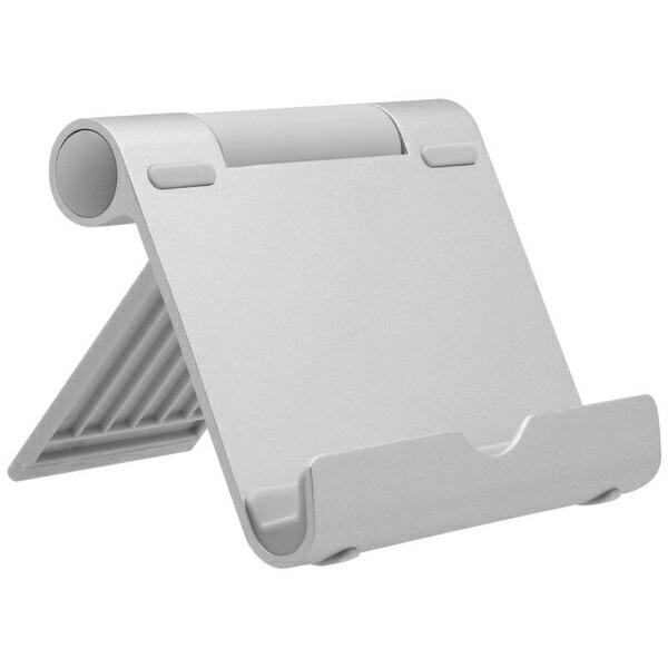 OWLTECHオウルテックスマートフォン/タブレット対応[〜10.5インチ]角度調整が自由な折りたたみアルミスタンドOWL-STD02-SIシルバー
