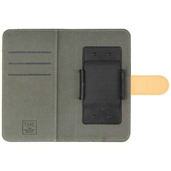 OWLTECHオウルテックスマートフォン用[幅74mm/5.2インチ]キャンバス×レザーデザインマルチケース手帳型ケースOWL-CVMUM11-NVCAネイビー×キャメル