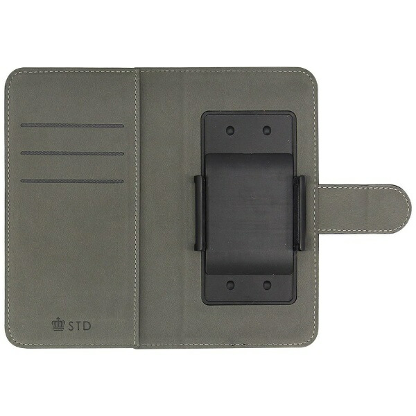 OWLTECHオウルテックスマートフォン用[幅74mm/5.2インチ]カーボン調マルチケースSTD手帳型ケースOWL-CVMUM12-BKカーボン柄×ブラック