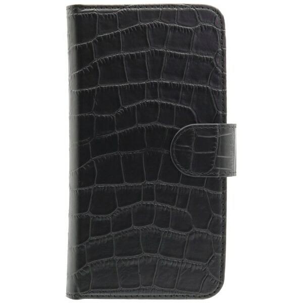 OWLTECHオウルテックスマートフォン用[幅74mm/5.2インチ]クロコダイル柄手帳型マルチケースTHEOWL-CVMUM14OWL-CVMUM14-BKクロコダイル柄×ブラック