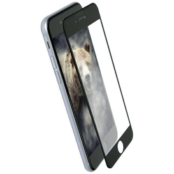 OWLTECHオウルテックiPhone8/76s6用太陽光や照明の反射を抑えるアンチグレアタイプ全面保護耐衝撃ガラスOWL-GTIP7SF-BAGブラック