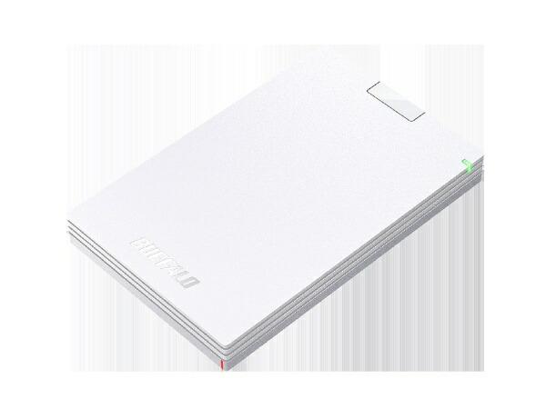 BUFFALOバッファローHD-PCG1.0U3-BWA外付けHDDホワイト[ポータブル型/1TB][HDPCG1.0U3BWAハードディスクテレビ]